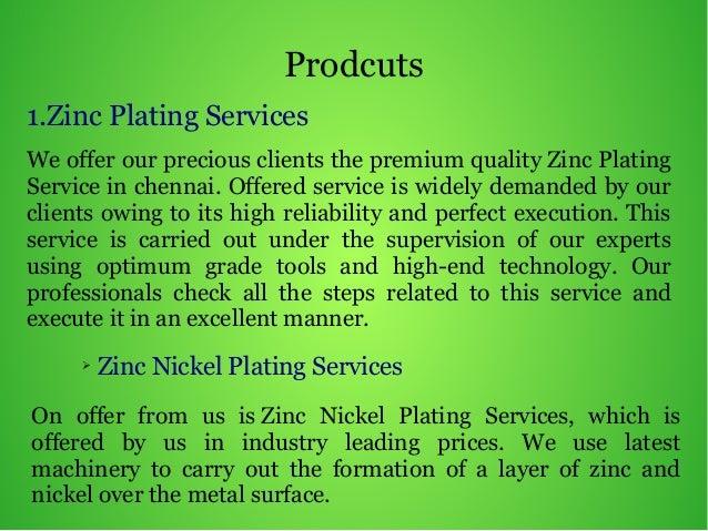 Zinc Nickel Plating in Chennai