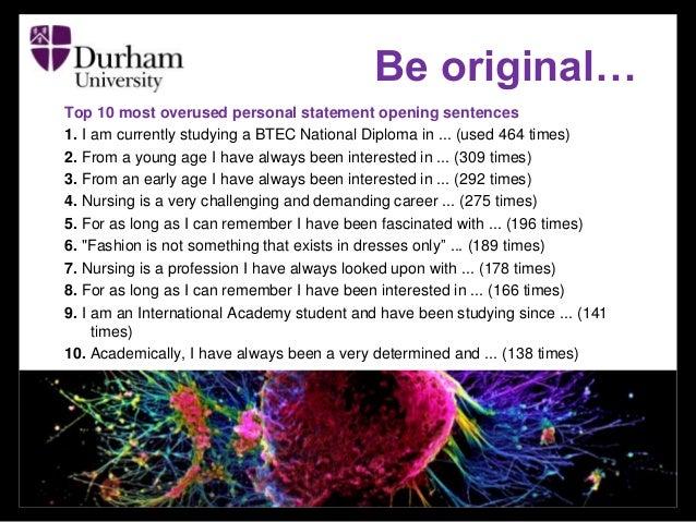 durham exchange personalized statement