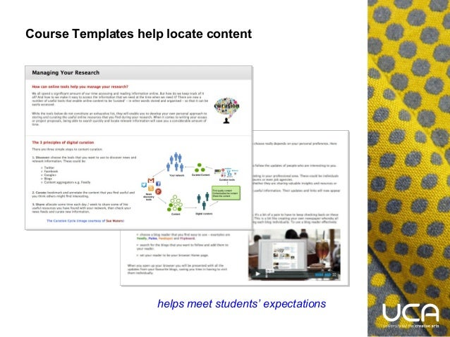 blackboard using templates and modules for self directed learning by