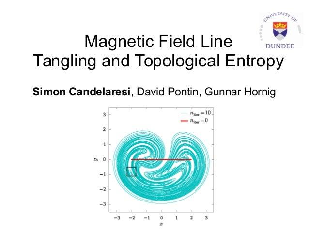 Magnetic Field Line Tangling and Topological Entropy Simon Candelaresi, David Pontin, Gunnar Hornig