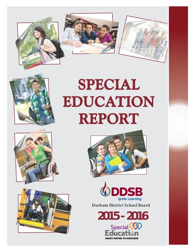 Durham School District Spec Education Report