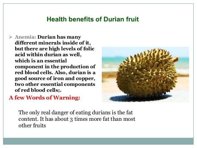 The Health Benefits of Durian Fruit