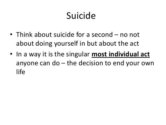 durkheim theory of suicide