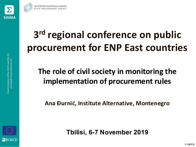 © OECD 3rd regional conference on public procurement for ENP East countries The role of civil society in monitoring the im...