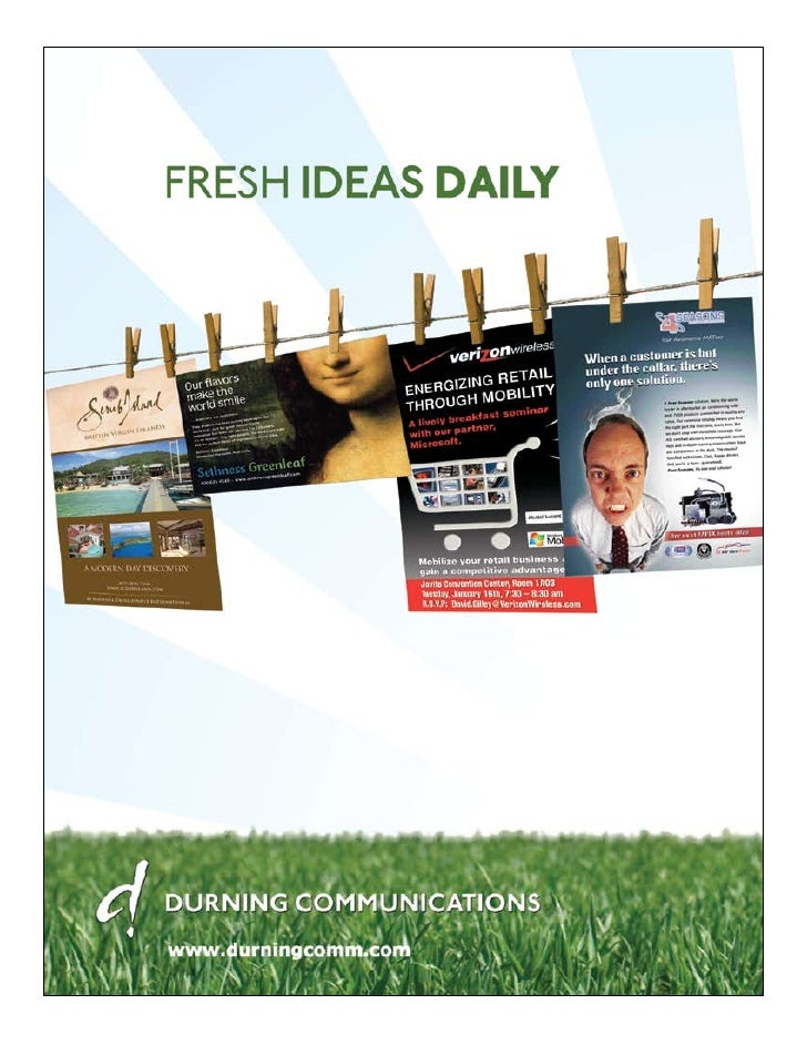 Fresh ideas get business slammin'. They get the             party started. And they're what we've been all             abo...