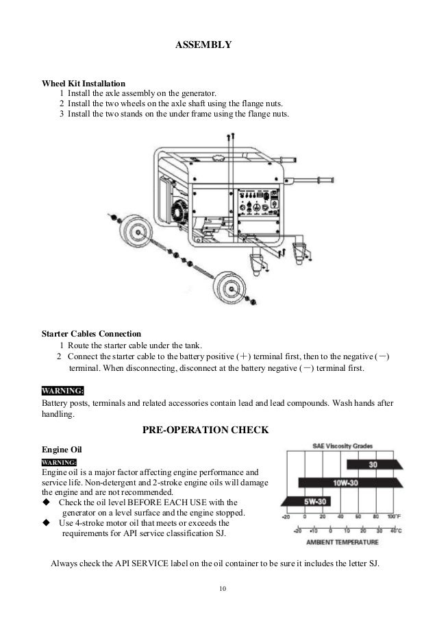 DuroMax XP10000E Generator Owners Manual on