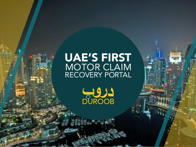 UAE'S FIRST MOTOR CLAIM RECOVERY PORTAL