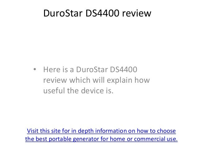 DuroStar DS4400 review   • Here is a DuroStar DS4400     review which will explain how     useful the device is. Visit thi...