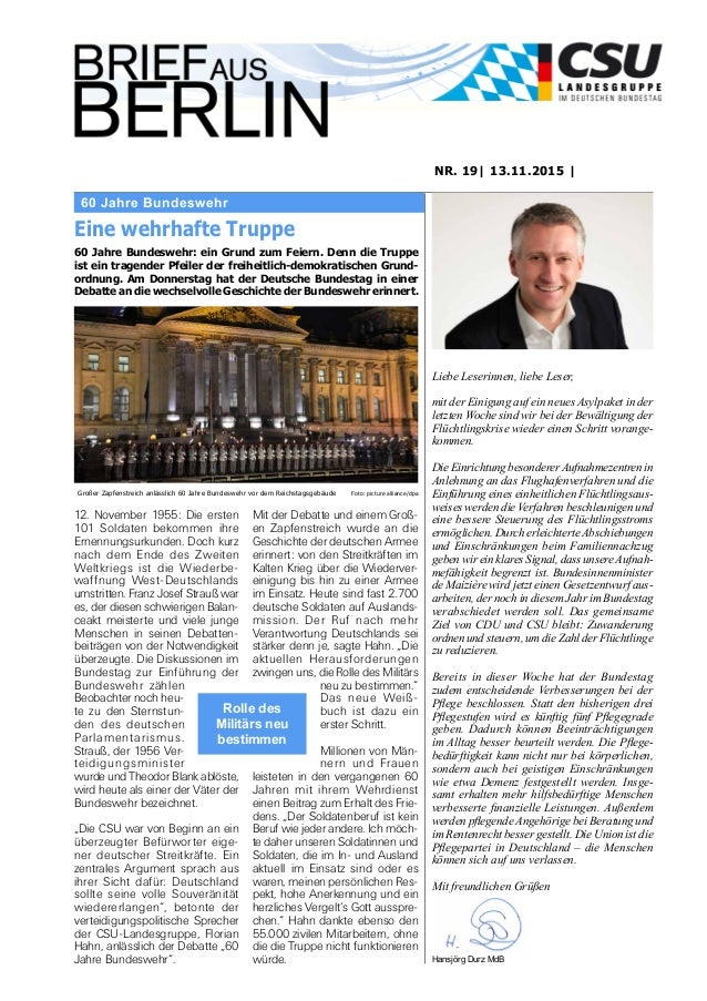 60 Jahre Bundeswehr NR. 19| 13.11.2015 | Eine wehrhafte Truppe 60 Jahre Bundeswehr: ein Grund zum Feiern. Denn die Truppe ...