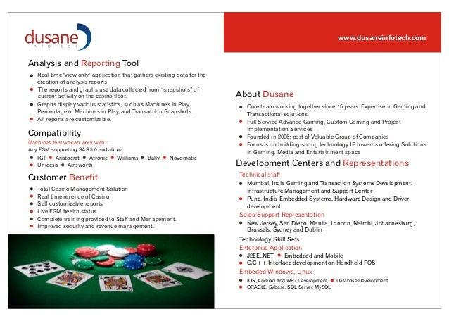 Dusane Casino Management System Brochure
