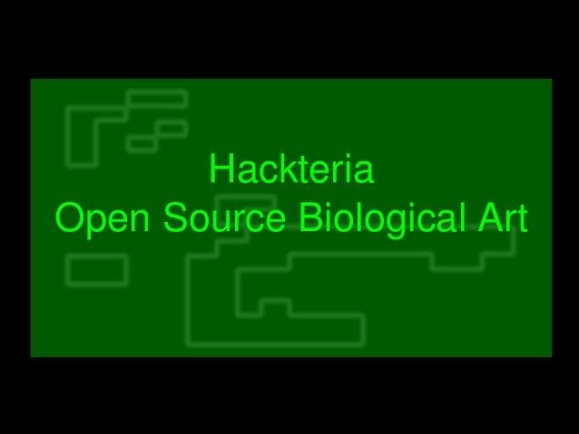 Hackteria OpenSourceBiologicalArt