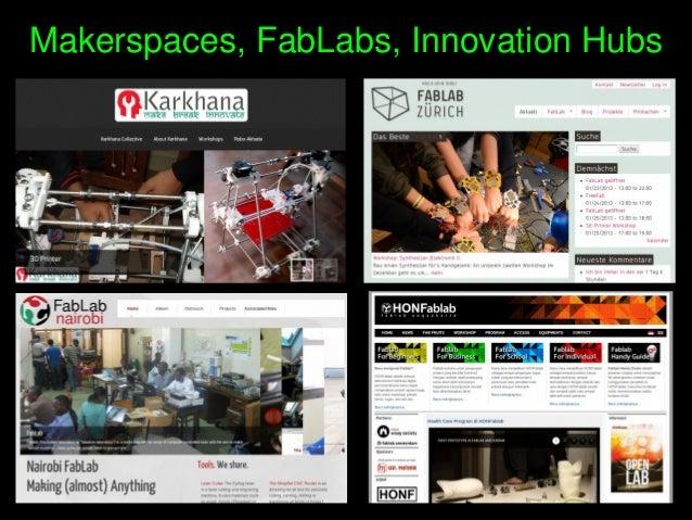 Makerspaces,FabLabs,InnovationHubs