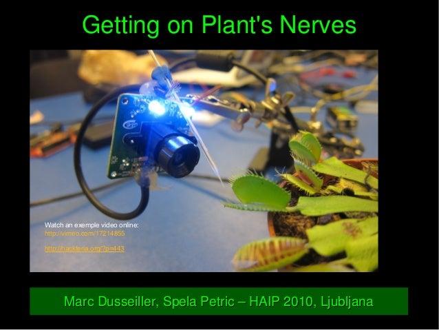 GettingonPlant'sNervesGettingonPlant'sNerves Watch an exemple video online: http://vimeo.com/17214855 http://hackter...