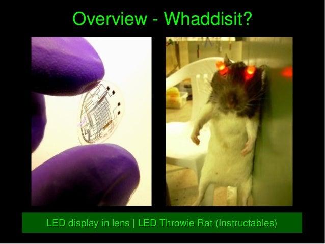 OverviewWhaddisit?OverviewWhaddisit? LEDdisplayinlens|LEDThrowieRat(Instructables)LEDdisplayinlens|LED...