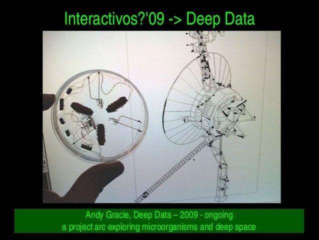 Interactivos?'09>DeepData AndyGracie,DeepData–2009ongoing aprojectarcexploringmicroorganismsanddeep...