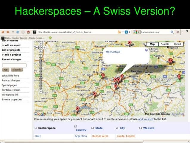 Hackerspaces–ASwissVersion?