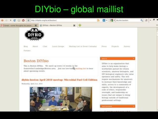 DIYbio–globalmaillist