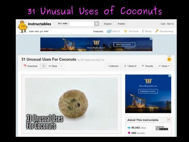31 Unusual Uses of Coconuts31 Unusual Uses of Coconuts
