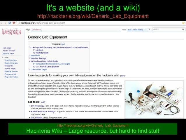 It'sawebsite(andawiki) http://hackteria.org/wiki/Generic_Lab_Equipment http://hackteria.org/wiki/Generic_Lab_Equi...