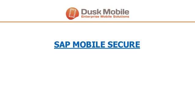 SAP MOBILE SECURE