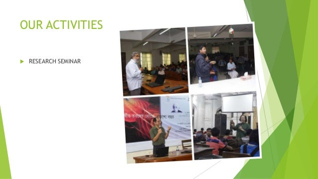 OUR ACTIVITIES  RESEARCH SEMINAR