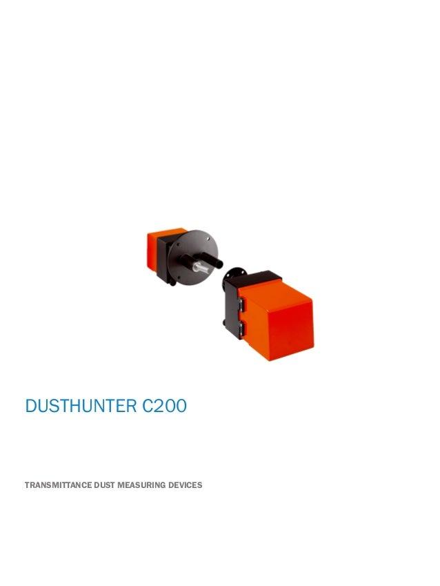 Onlinedatasheet DUSTHUNTER C200 TRANSMITTANCE DUST MEASURING DEVICES