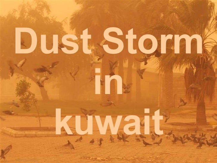 Dust Storm  in  kuwait