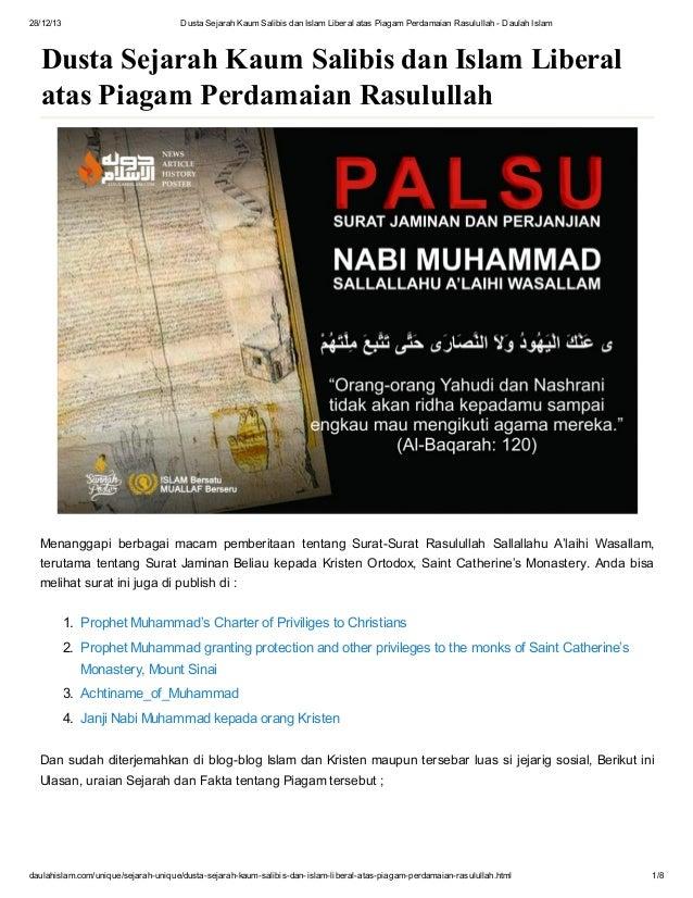 28/12/13  Dusta Sejarah Kaum Salibis dan Islam Liberal atas Piagam Perdamaian Rasulullah - Daulah Islam  Dusta Sejarah Kau...
