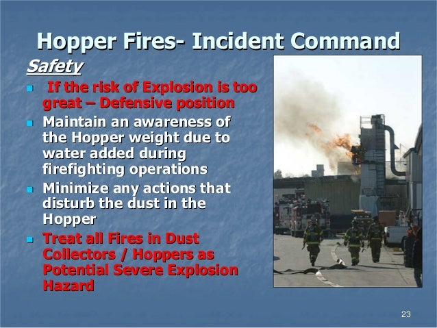 Dust Explosions Silo Hopper Fires