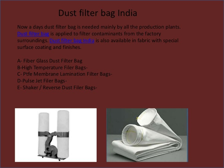 Dust Filter Bags India
