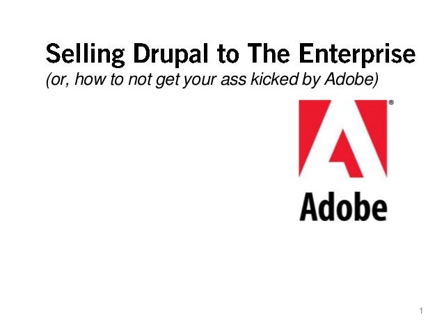 (or, how to not get your ass kicked by Adobe)                                                1