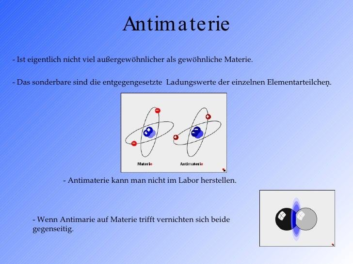 Antimaterie Herstellen