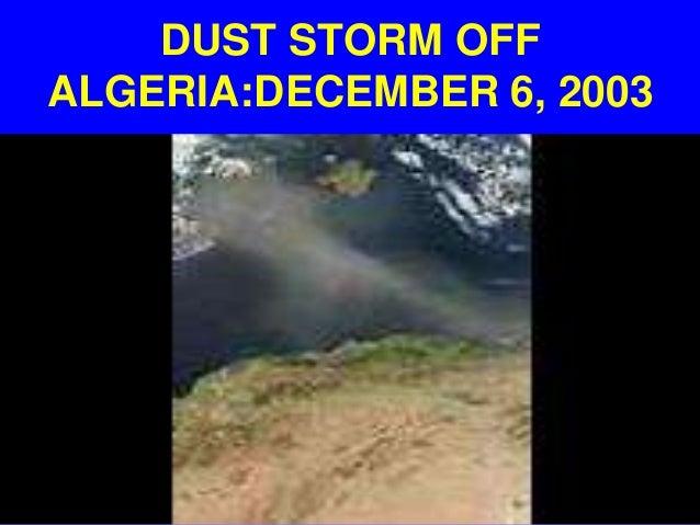 DUST STORM OFFALGERIA:DECEMBER 6, 2003