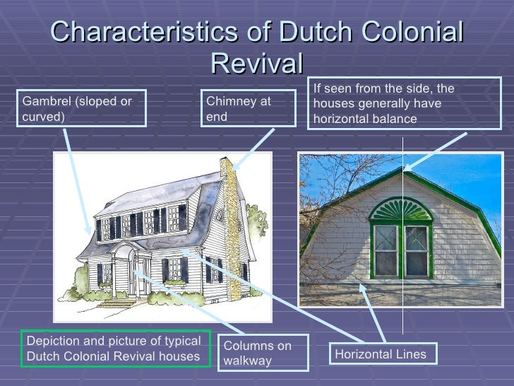 Dutch colonial revival architecture Colonial style homes floor plans