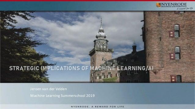 Jeroen van der Velden Machine Learning Summerschool 2019