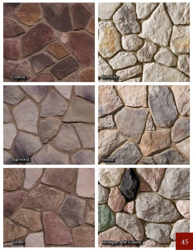 45 Cypress Kentucky Sagewood Sienna Torino Michigan Split Granite