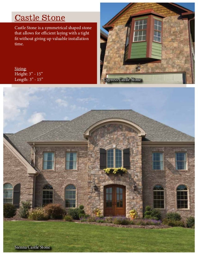 Castle Stone Castle Stone is a symmetrical shaped stone that allows for efficient laying with a tight fit without giving u...