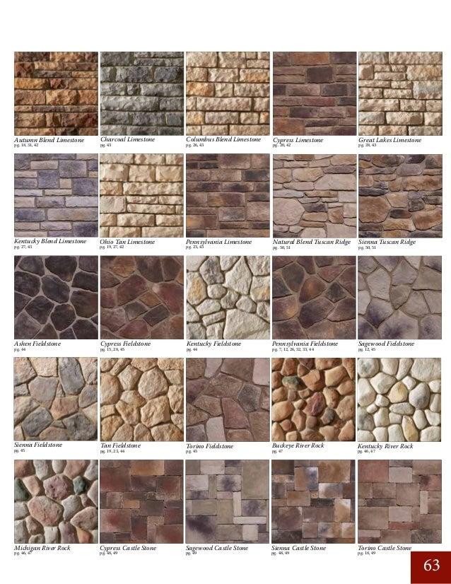 Great Lakes Limestone pg. 27, 43 pg. 20, 42 Cypress Limestone pg. 19, 27, 42 pg. 26, 43pg. 43 pg. 23, 43 Kentucky Blend Li...