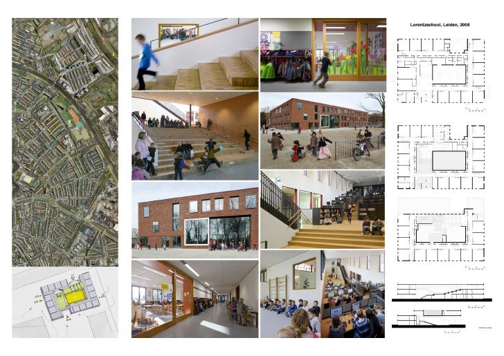 Lorentzschool, Leiden, 2008Primary school for 900 pupils, a playroom with after-school group, a gymnasium, 39housing units...