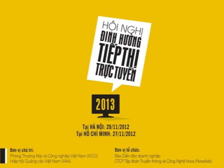 Du thao Hoi nghi Dinh huong tiep thi truc tuyen 2013