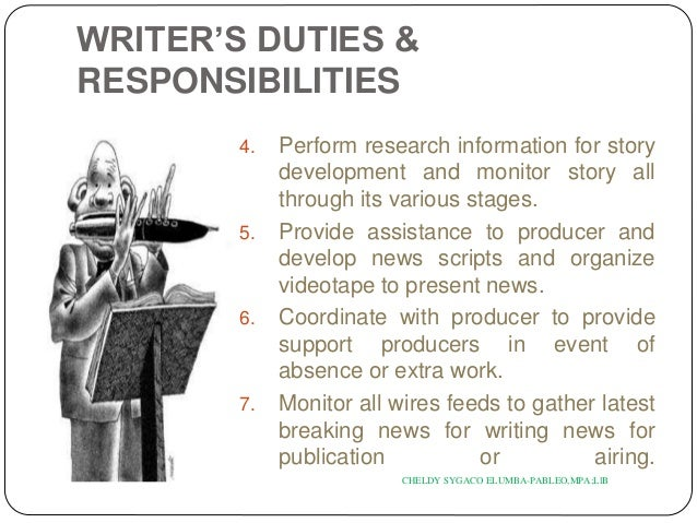 33 writers duties - Duties Of A Producer