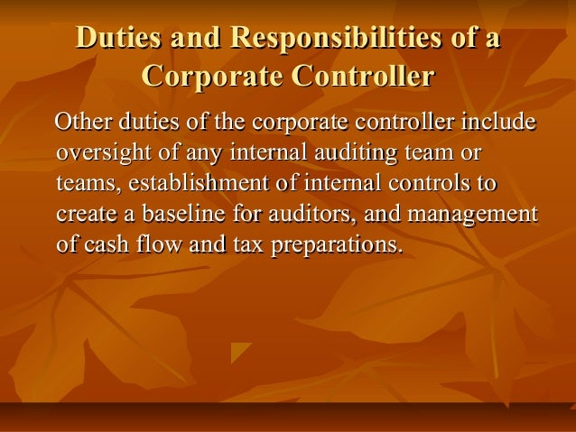 duties and responsibility