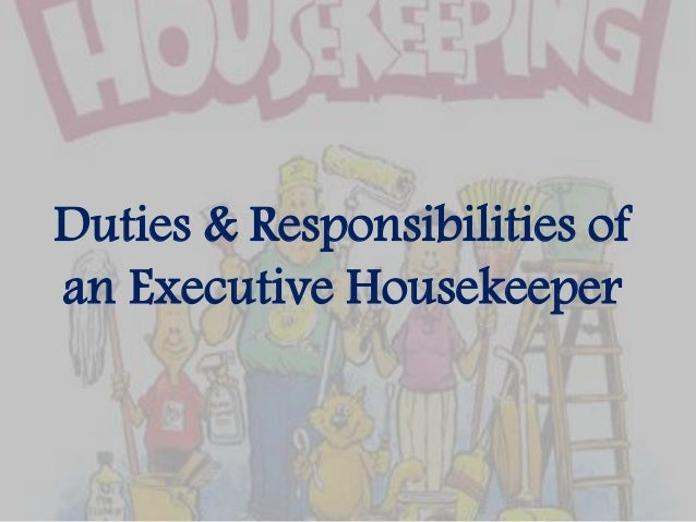 housekeeping duties and responsibilities