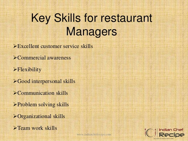 4 key skills for restaurant managers