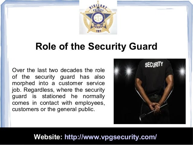 3. Role Of The Security Guard ...