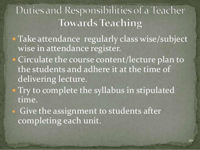 Duties and responsibilities of a teacher – Job Responsibilities of a Teacher