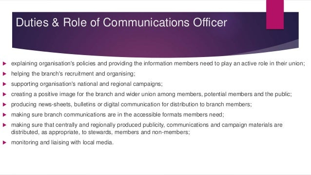 Duties And Roles Manual For Elected Committee Members
