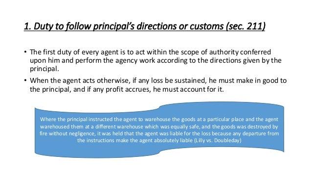 duties of agent to principal