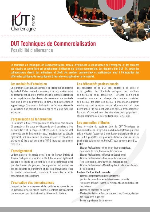 Dut Techniques De Commercialisation Iut Charlemagne