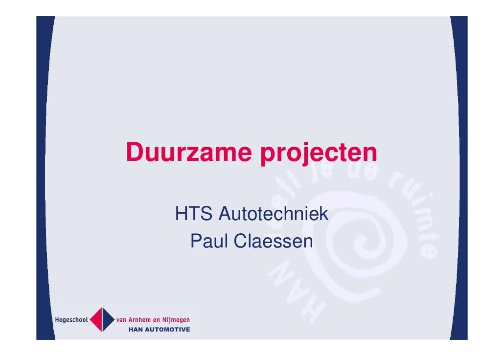 plan van aanpak han Duurzaam Efficiënt Omgaan Met Resources, Han Automotive plan van aanpak han